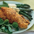 Parmesan-Crusted Chicken & Asparagus with Sauce Maltaise