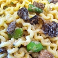 Pasta with Favas, Morels and Mascarpone Cheese