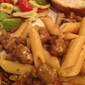 Pasta with Mushrooms and Turkey Sausage