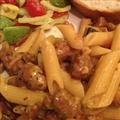 Pasta with Mushrooms and Turkey Sausage