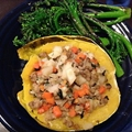 Pear and Ground Pork-Stuffed Winter Squash