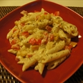 Penne with Peppers and Feta Cheese