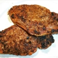 Pepper Rubbed Pork Chops