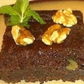 Persimmon and Chocolate Spice Cake with Walnuts