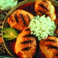 Peruvian Grilled Chicken Thighs with Tomato-cilantro Sauce