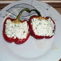 Pimentos com Queijo Cottage