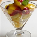 Pineapple and Strawberries with Mango Sauce