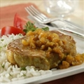 Pineapple Curried Pork Chops