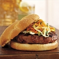Pork Burgers with Apple Tarragon Slaw