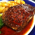 Pork Chops- Ancho Chile and Raspberry Glaze