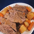 Pot Roast with Carrots and Potatoes in the Crock Pot