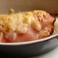 Potato, Celery Root and Ham Gratin