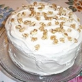Pumpkin Cake with Seafoam Frosting