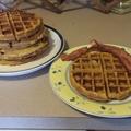 Pumpkin Waffles with Orange butter