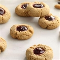 Raspberry Chocolate Thumbprint Cookies