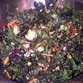 Raw Kale Confetti Salad with Toasted Sunflower Seeds