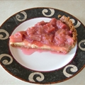 Rhubarb mascarpone tart