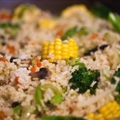 Rice with fresh vegetables