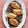 Roast Chicken with Wild Mushroom Sauce
