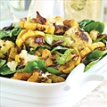Roasted Cauliflower with Delicata Squash and Baby Spinach