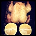 Roasted Chicken with Whole Lemon And Ginger