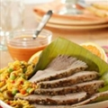 Roasted Fresh Pork Leg with Guava Mustard Sauce