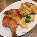 Roasted Lemon, Thyme, Rosemary Chicken with Potatoes