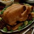 Roasted Turkey with Cranberry Fruit Dressing
