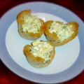 Rye Bread Cups with Cheesy Egg Salad