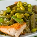 Salmon Stir-Fry with Pan Sauce