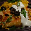 Santa Fe Style Beef Enchiladas