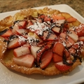 Sarah's Strawberry, Banana & Chocolate Puffy Pancake