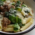 Sausage Meat and Spinach Pasta