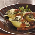 Sausage, Spinach and Cheese-stuffed Shells