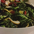 Sauteed Kale, Mushrooms, and Cranberries Salad