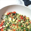 Savory Garlicky Quinoa Tabbouleh