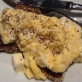 Scrambled Eggs with Feta on Toast