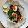 Sea Bass and Salad in Parchment Paper