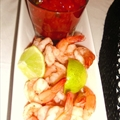 Shrimp with Cilantro Lime Cocktail Sauce