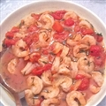 Shrimps with Basil, Leeks and Tomatoes