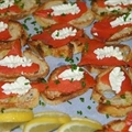 Smoked Salmon and Lemon-Cream Cheese on Crostini