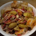 Smoky Skillet Shrimp with Spanish Potato Salad 