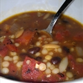 Soup- Black Bean with Israeli Couscous