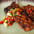 Southwestern Strip Steaks with Avocado Pico de Gallo