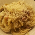 Spaghetti Carbonara with chicken