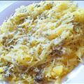 Spaghetti Squash with Garlic Sage Cream