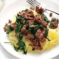Rachel Ray's Spaghetti Squash with Sausage and Greens
