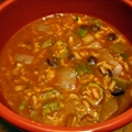 Spicy Vegetable Soup with Black Beans