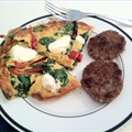 Spinach, Roasted Red Pepper, Goat Cheese Fritta