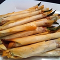Starter: Asparagus and Prosciutto in Phyllo